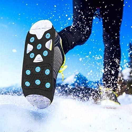 nobrand Einfach Slip On 11 Studs Steigeisen Spikes Anti Slip-Weg Traction Klampen im Freien über Stiefelette EIS-Schnee-Griffe Anti-Rutsch-Schuhe Abdeckungen Steigeisen (Color : XL)