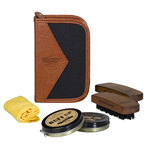 Gentlemen's Hardware Shoe Shine Kit, Black by Gentlemen's Hardware