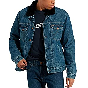 Wrangler Mens Sherpa Denim Jacket- XL