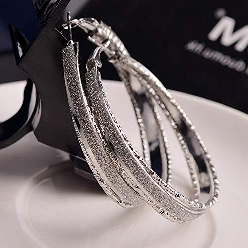 Monowi Fashion Women Frosted Crystal Rhinestone Drop/Dangle Big Earrings Ear Stud   Model ERRNGS - 5409 -