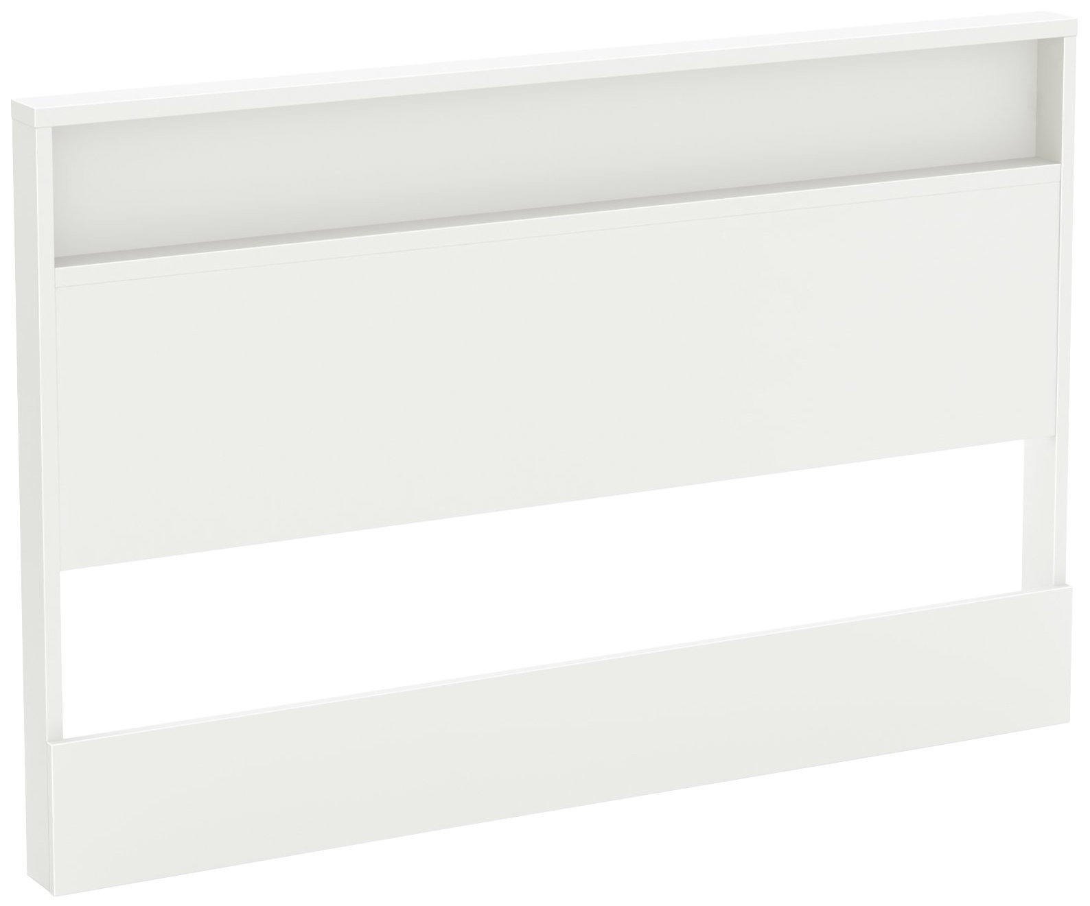 South Shore Holland Headboard with Shelf, Full/Queen 54/60-Inch, Pure White