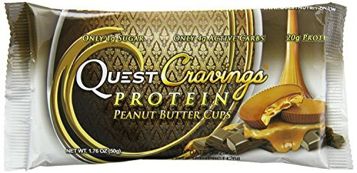 QuestBar Protein Cravings, Peanut Butter Cups, 12 Count by Quest Bar