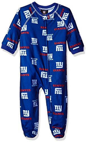 NFL Infant Giants Sleepwear All Over Print Zip Up Coverall