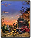 Fashion Design Blake Sofe Bed/Sofa Fleece Plush Blanket Old Farm Tractor Antique Blanket 58 Inch x 80 Inch Large