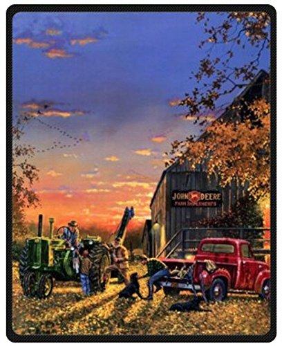 Fashion Design Blake Sofe Bed/Sofa Fleece Plush Blanket Old Farm Tractor Antique Blanket 58 Inch x 80 Inch Large ()