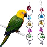 BWOGUE Bird Swing Toys with Bells Pet Parrot Cage