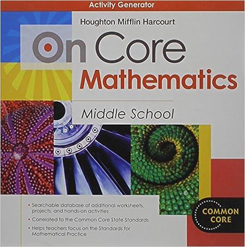 Amazon.com: On Core Mathematics: Activity Generator CD-ROM Grades ...