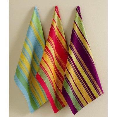 Tag Fall Jardin Stripe Kitchen Towels - Set of 3
