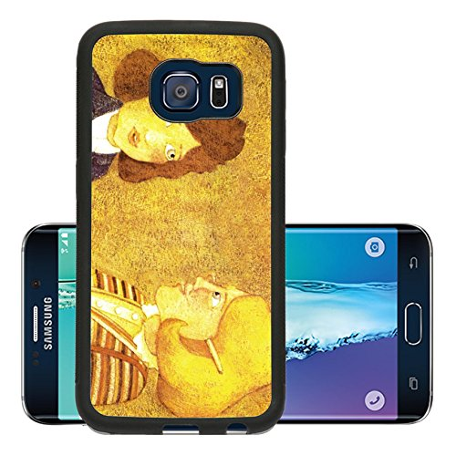 Liili Premium Samsung Galaxy S6 Edge Aluminum Backplate Bumper Snap Case Vintage illustration about traditional post services from 1985 done by Polish illustrator Boguslaw Orlinski 28406860