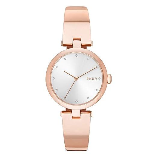 DKNY Reloj Analógico para Mujer de Cuarzo con Correa en Acero Inoxidable NY2711: Amazon.es: Relojes