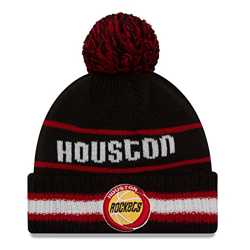 New Era Houston Rockets NBA Cuffed Vintage Select Pom Knit Hat by New Era