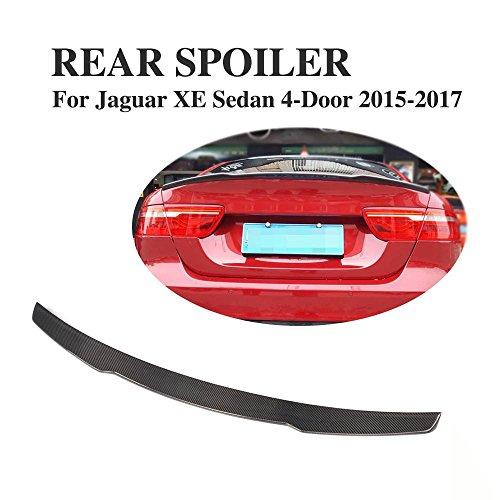 JCSPORTLINE Carbon Fiber Rear Trunk Wing Spoiler Boot Kit for Jaguar XE Sedan 2015-2017 by jcsportline