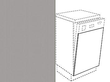 Premium Ambiente Ameiv0005 Unterschrank Front Fur Geschirrspuler Fe Breite 45cm Integriert 05 Aluminium