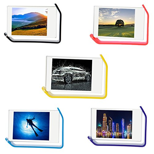 [Fujifilm Instax Mini Frame] -- CAIUL 5 Different Colorful Photo Frame, 300 Degrees Rotatable Clear Acrylic Frame for Instax Mini 8 8+ 9 70 7s 90 25 26 50s Film