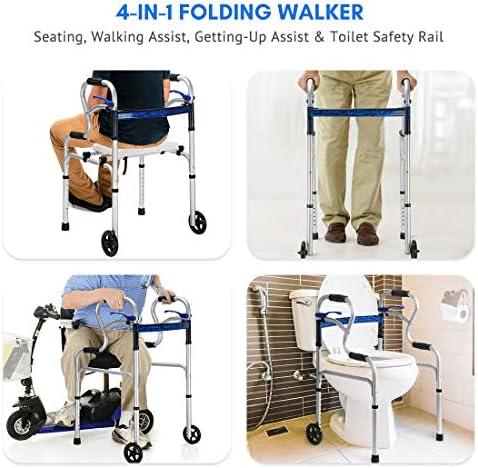 Amazon.com: Health Line - Andador plegable multifunción, con ...