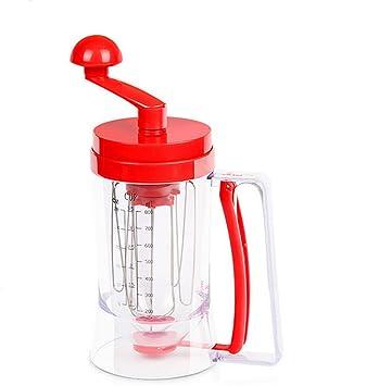 Mano dispensador de masa mezclador separador Cupcake embudo dispensador de mano herramientas de pastelería: Amazon.es: Hogar