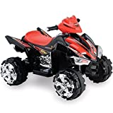 New 12V Ride on Quad Bike for Kids Battery powered electric car Various colours (Black) by White Box