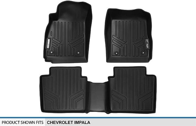 Complete Set 2014-2015 Black MAXFLOORMAT Floor Mats for Chevrolet Impala