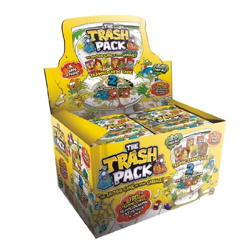 THE TRASH PACK SERIES 2 TRADING CARDS ~ THE TOILET SPLASH ~ FULL BOX / 36 PACKETS by The Trash Pack by GIROMAX