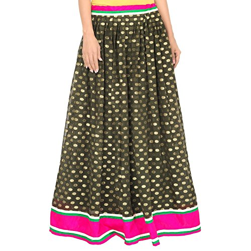 Admyrin Export Dark Indian Green Skirt Handicrfats Women Viscose 6EwFz5
