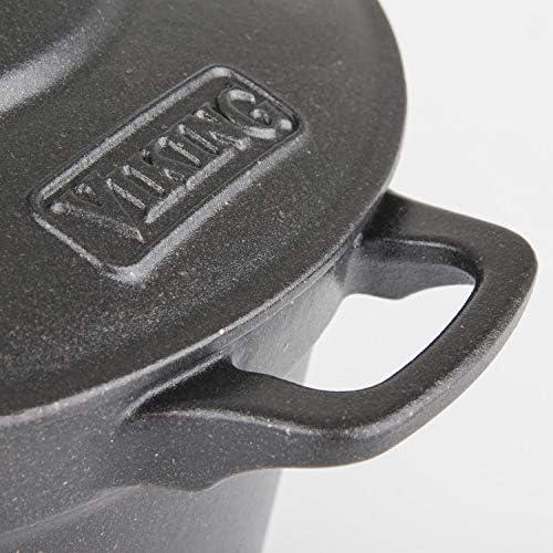 Viking Enamel Cast Iron Dutch Oven, 7 Quart