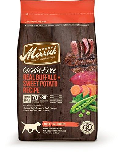Merrick Grain Free Real Buffalo and Sweet Potato Dry Dog Food 25-Pound