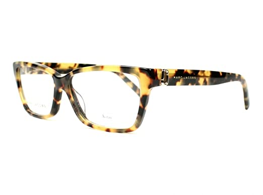 6a5c2cade9a Image Unavailable. Image not available for. Color  Marc Jacobs Plastic Rectangular  Eyeglasses 55 0O2V Glitter Havana