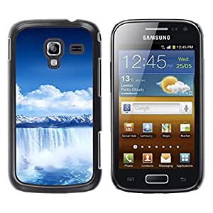 Exotic-Star ( Waterfall Blue Africa ) Fundas Cover Cubre Hard Case Cover para Samsung Galaxy Ace 2 I8160 / Ace2 II XS7560M