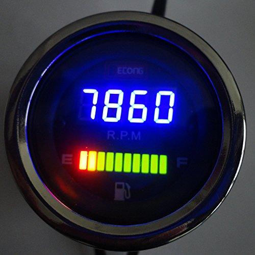 Iztor motorcycle Speedometer Rotate Speed Meter Tachometer Fuel Oil Gauge For Three-cylinder Car
