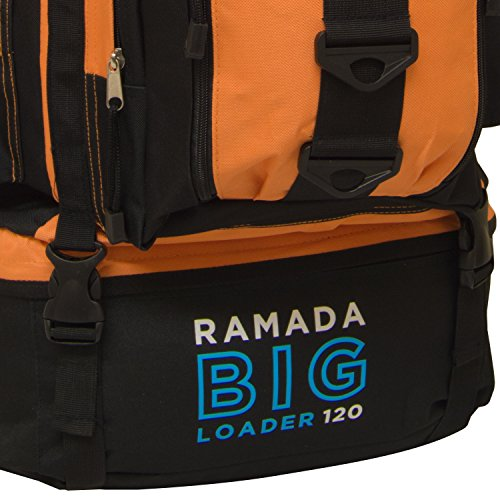 Luggage Bag Rucksack Bright Hiking Extra Andes Orange Camping Ramada 120L Backpack Large ZqH80z