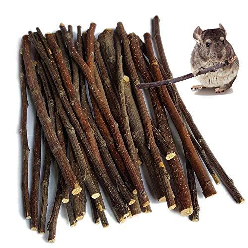 - jiajucj Apple Sticks Pet Chew Toys Chew Sticks for Rabbits Chinchilla Guinea Pigs Bunny (500g)