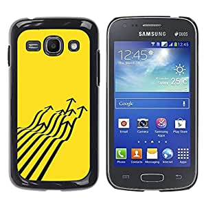 Paccase / SLIM PC / Aliminium Casa Carcasa Funda Case Cover - Fighter Jet Arrow Abstract Yellow - Samsung Galaxy Ace 3 GT-S7270 GT-S7275 GT-S7272
