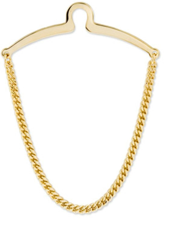 men 39 s fancy herringbone necktie tie chain tone gold link