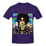 Prince Indigo Nights Tour Rock Mens O Neck Big Tall T Shirt Purple