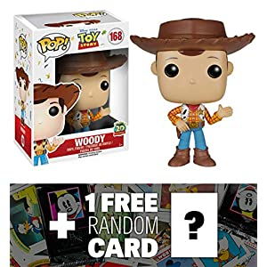 Woody: Funko POP! x Disney Pixar Toy Story Vinyl Figure + 1 FREE Classic Disney Trading Card Bundle [68776]
