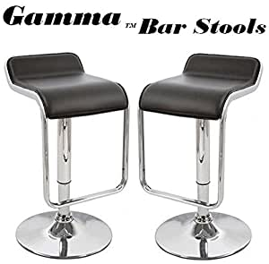 Amazon Com Gamma Adjustable Faux Leather Bar Stool