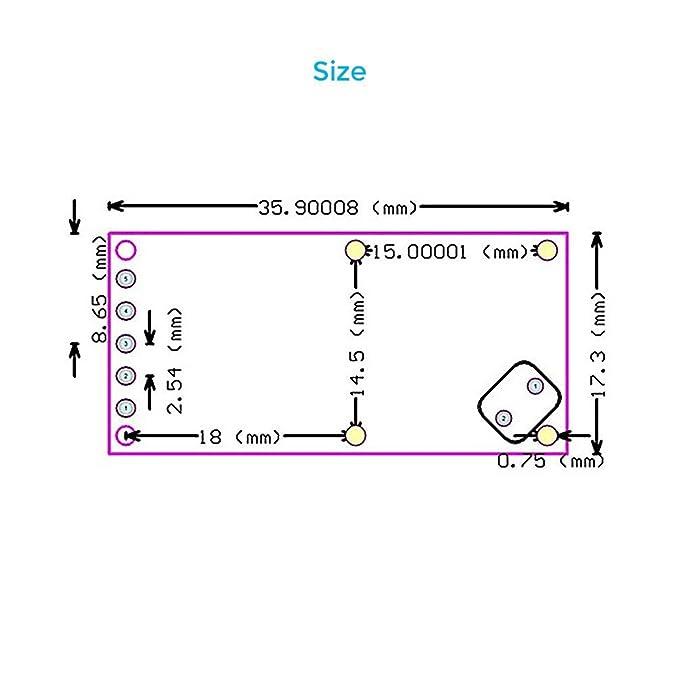 SODIAL 5pzs RCWL-0516 Modulo de Interruptor Inteligente del Sensor de Radar de microondas Modulo de induccion del Cuerpo Humano 5-7M Distancia de deteccion ...