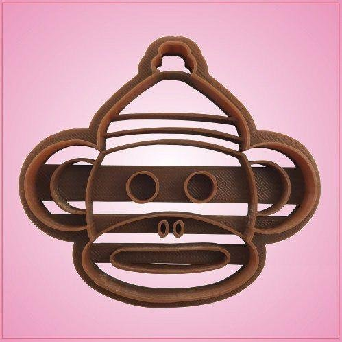 - Embossed Sock Monkey Head Cookie Cutter-One Piece Only