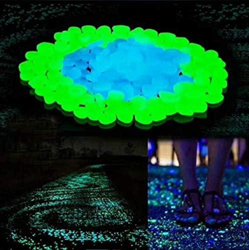 Habitaci/ón de Ni/ños Brillantes Guijarros Hitopin Piedras Luminosas de Colores 200 Piezas Guijarros Luminosos Piedras Fluorescentes Jard/ín Decoraci/ón de la Piscina Color para Acuario