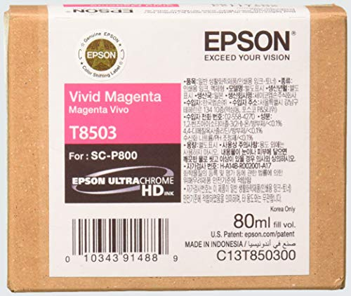 Epson T850300 T850 UltraChrome HD Vivid Magenta Ink
