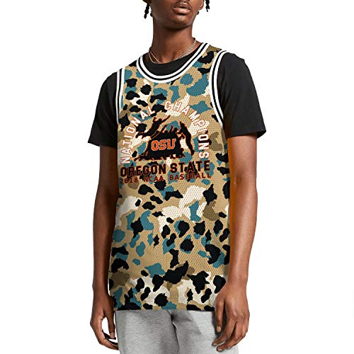 ilzeu Men Camouflage Graphic Printed Tank Top Elastic Materials Basketball Uniforms Sports Jersey