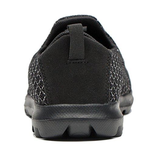 Tianyuqi Herren Wanderschuhe leichte atmungsaktive Lace-Up Fashion Sneakers Schwarz