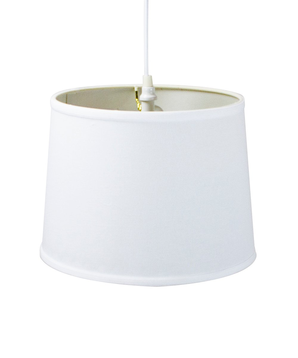 Plug In Pendant Light By Home Concept Hanging Swag Lamp White Drum Wiring Kit Shade