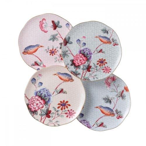 (Wedgwood Harlequin Cuckoo Tea Story Tea Plates, Set of 4)
