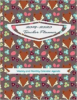 2020 Teacher Planner: Weekly and Monthly Calendar Agenda