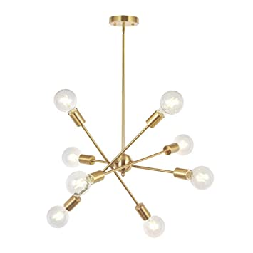 8 Lights Moderne Sputnik Kronleuchter Beleuchtung Mit Verstellbaren Armen  Mitte Des Jahrhunderts Pendant