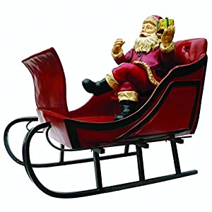 "Amazon.com: Giant 52"" Outdoor Santa Claus in Red Sleigh ..."