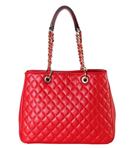 Quilted Patent Tote - 2
