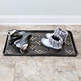 ART & ARTIFACT Floral Fans Rubber Boot Tray and
