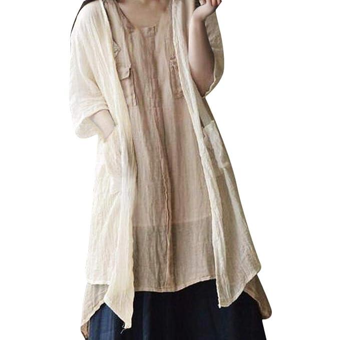 Loveleiter Frauen Fester Pullover Beilaufige Baumwolle Und Leinen